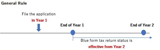 Blue form tax return General